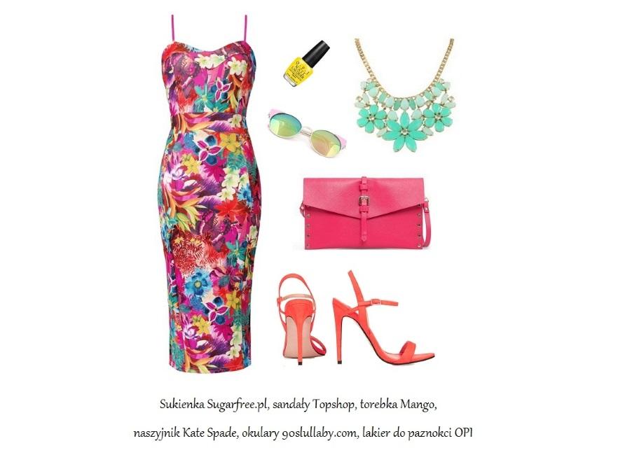 Sukienki w kwiaty na lato 2014