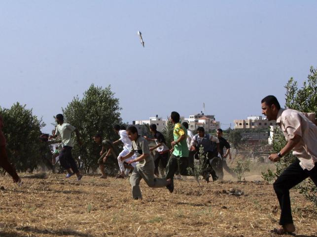 Izraelska rakieta spada na kwatery Hamasu w Nusseirat w Strefie Gazy