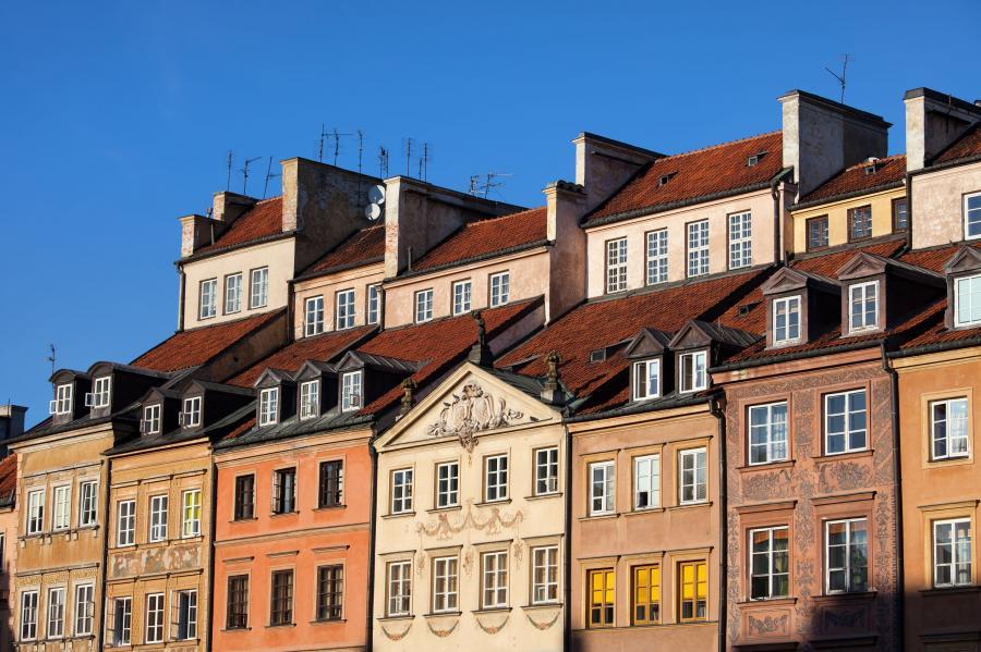 Kamienice na Starym Mieście w Warszawie