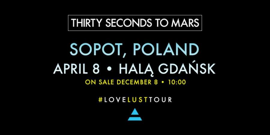 Thirty Seconds to Mars zaprasza na koncert w Gdańsku