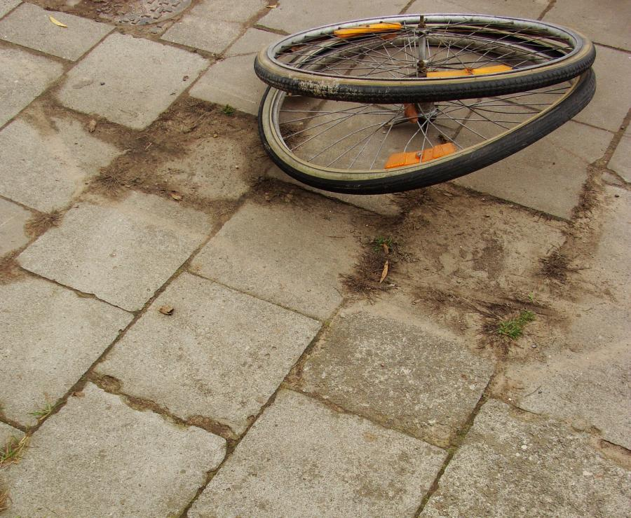 Koła od roweru (zdjęcie ilustracyjne)
