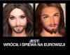 Szerokim echem odbił sięw memach sukces Conchity Wurst na Eurowizji