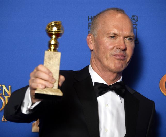 """Najlepszy aktor w komedii lub musicalu:<br>Michael Keaton – """"Birdman, czyli nieoczekiwane pożytki z niewiedzy"""""""