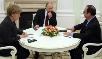 Angela Merkel, Władimir Putin, Francoise Hollande