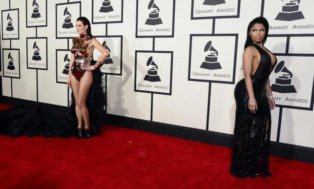 Najbardziej rozebrane gwiazdy na gali Grammy 2015: Bleona Qereti i Nicki Minaj