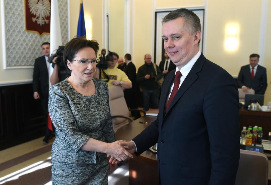 Ewa Kopacz i szef MON Tomasz Siemoniak