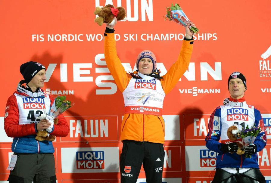 Severin Freund na podium