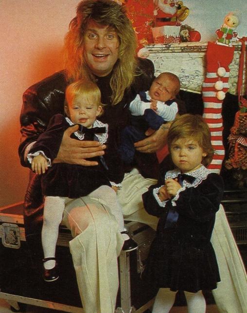 Ozzy Osbourne z trójkąswoich dzieci