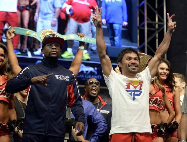 Floyd Mayweather Jr. cięższy od Manny'ego Pacquiao