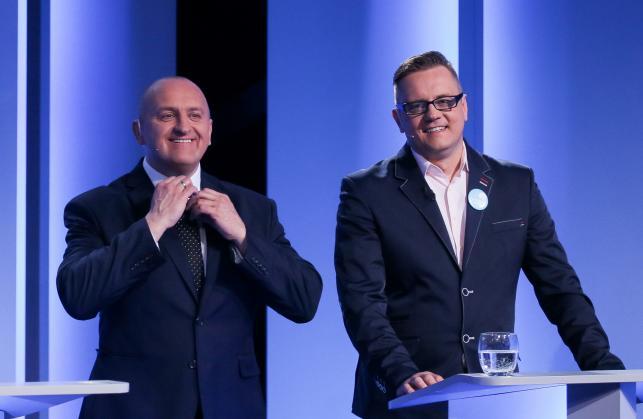 Kandydaci na urząd prezydenta RP Marian Kowalski i Paweł Tanajno