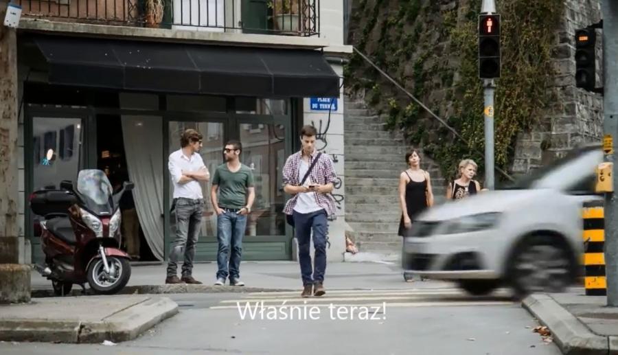 Kadr z filmu policji z Lozanny