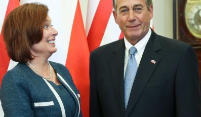 Małgorzata Kidawa-Błońska i John Boehner