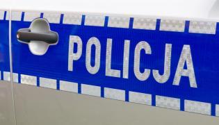 Drzwi policyjnego radiowozu