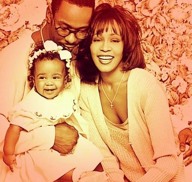 Mała Bobbi Kristina Brown z rodzicami
