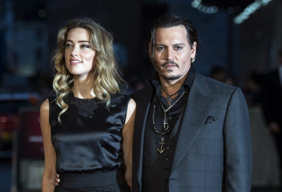 Johnny Depp z żoną Amber Heard