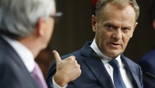 Przewodniczący Rady Europejskiej Donald Tusk oraz przewodniczący Komisji Europejskiej Jean Claude Juncker