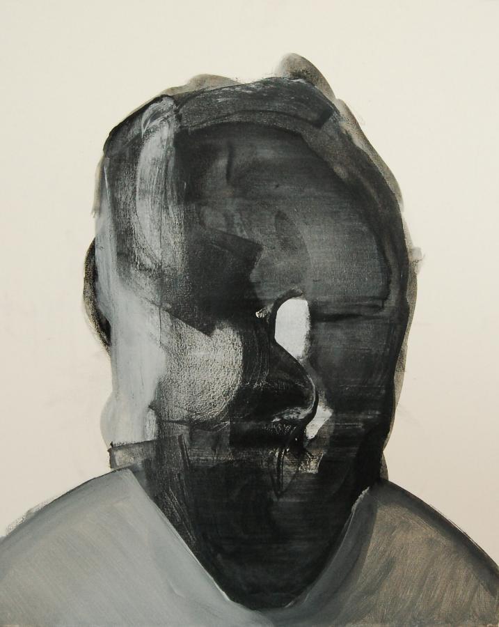 """""""Szkice do portretu 11"""", Cezary Bednarczyk, olej na płótnie, 50x40 cm"""