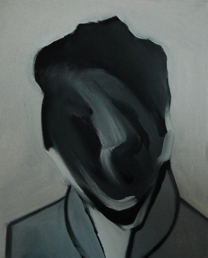 """""""Szkice do portretu 17"""", Cezary Bednarczyk, olej na płótnie, 50x40 cm"""