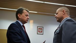 Inspektor Zbigniew Maj i minister Mariusz Błaszczak