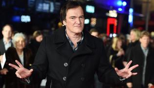 """Quentin Tarantino na premierze """"Nienawistnej ósemki"""" w Londynie"""
