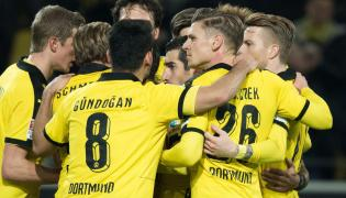 Radość piłkarzy Borussii Dortmund