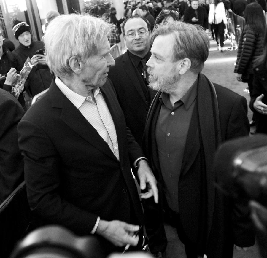 """Harrison Ford i Mark Hamill na premierze """"Gwiezdnych wojen"""""""