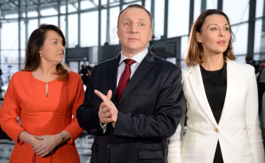 Jacek Kurski i dziennikarki, Danuta Holecka i Anna Popek