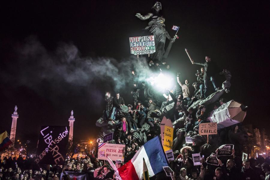 Antyterrorystyczna demonstracja we Francji