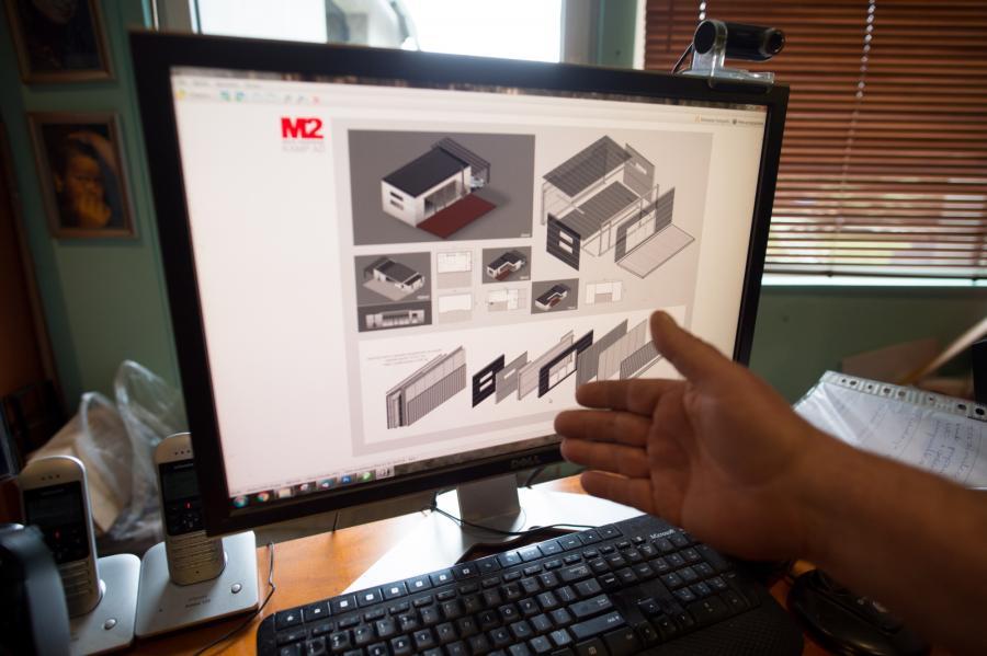 Projekt 25-metrowego M2 do złożenia z paczki
