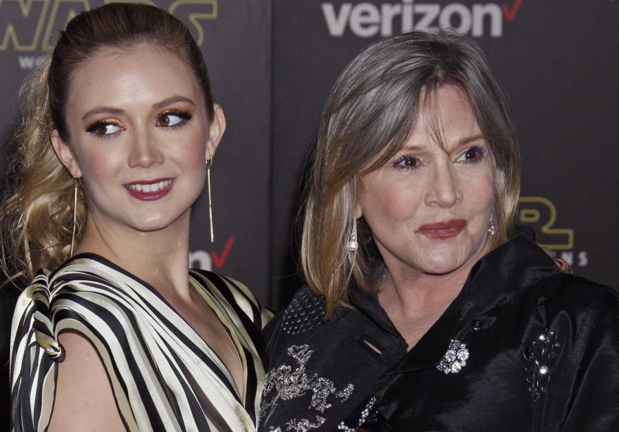 Billie Lourd z mamą Carrie Fisher