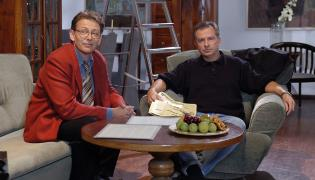 """Jacek Borkowski i Tomasz Stockinger w """"Klanie"""""""