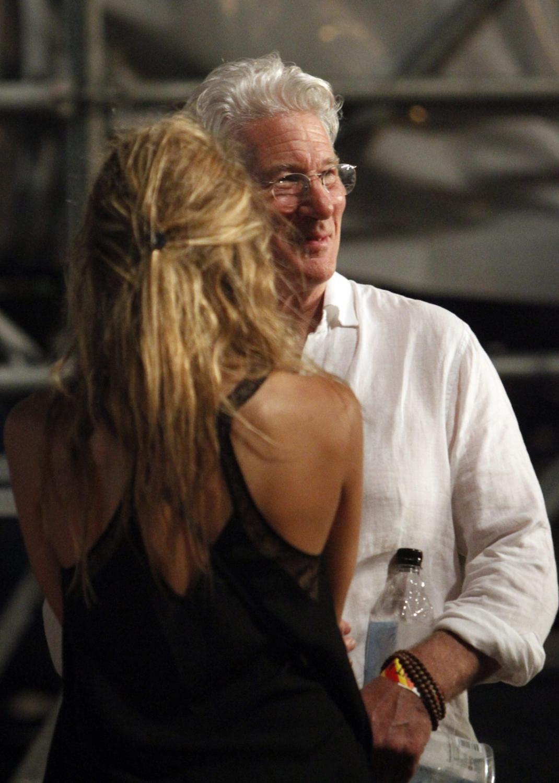Richard Gere na koncercie The Rolling Stones w Hawanie