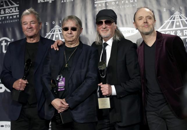 Muzycy Deep Purple: Ian Paice, Ian Gillan i Roger Glover oraz Lars Ulrich (Metallica)