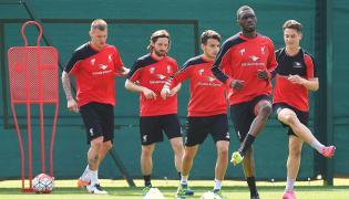 Trening piłkarzy Liverpoolu