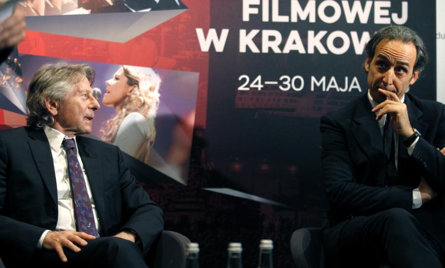 Konferencja prasowa z udziałem Romana Polańskiego i Alexandra Desplata