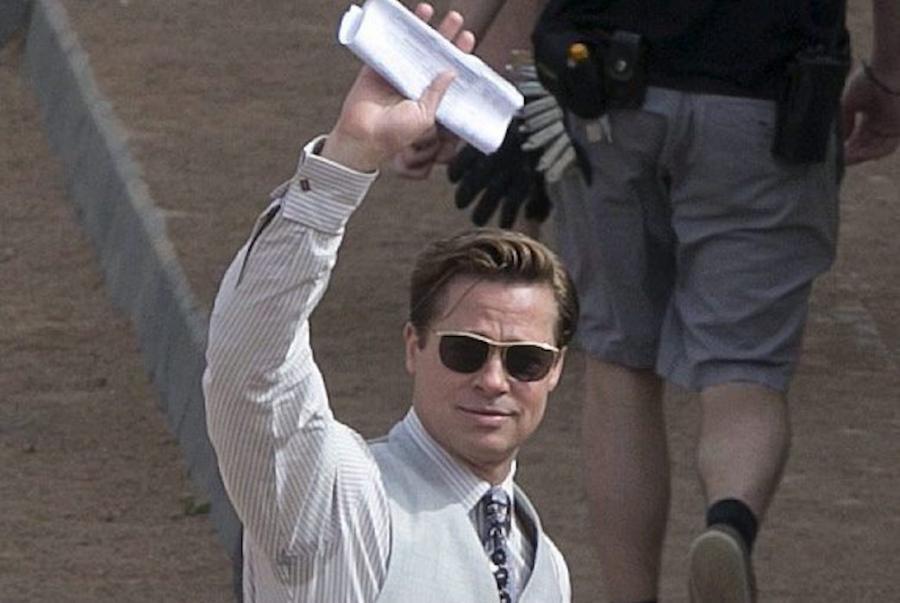 Brad Pitt na planie filmu \