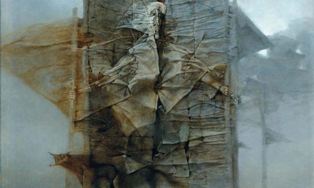 Mało znane i niepokazywane prace Zdzisława Beksińskiego. ZOBACZ ZDJĘCIA