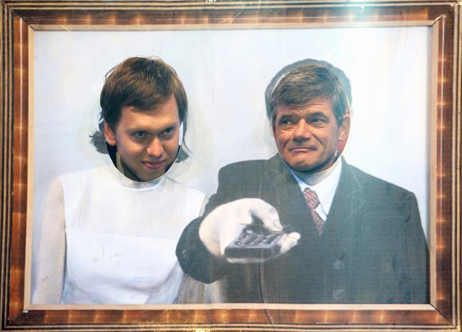 Henryk Gołębiewski i syn Zbigniewa Buczkowskiego – Michał na II Festiwalu Jana Himilsbacha (2009)