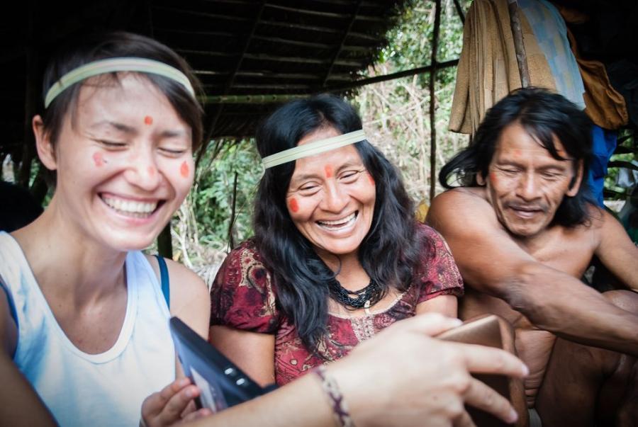 Huaorani, mieszkańcy dżungli amazońskiej w Ekwadorze; fot. T. Bogusz / Pirania na kolację