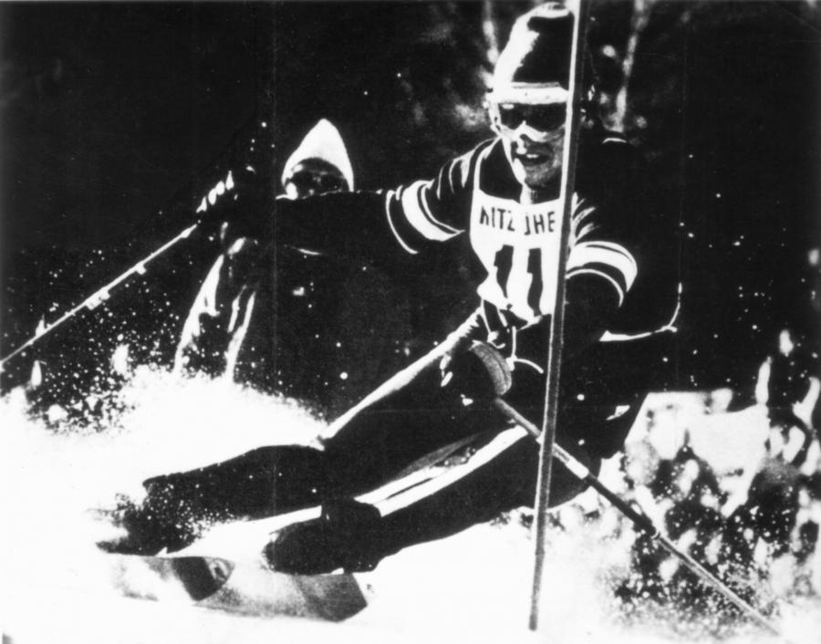 Andrzej Bachleda Curuś podczas zawodów FIS w Kitzbuhel / fot. ze zbiorów Andzeja Bachledy Curusia