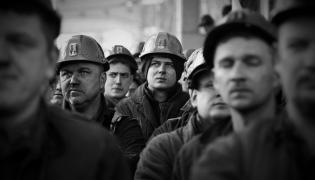 Protest górników w jednej ze śląskich kopalni