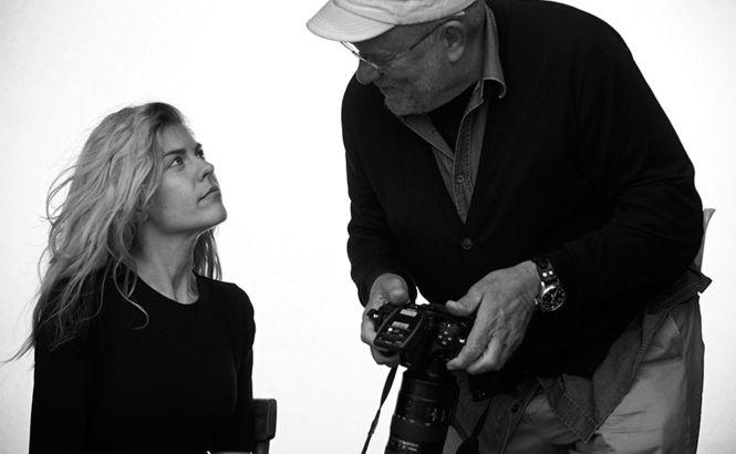 Anastazja Ignatowa i niemiecki fotograf Peter Lindbergh
