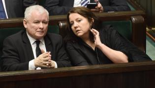 Jarosław Kaczyński i Joanna Lichocka