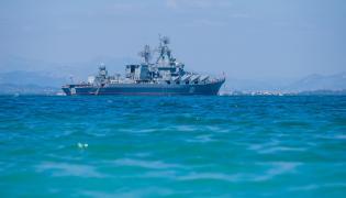 """Rosyjski krążownik rakietowy """"Moskwa"""""""