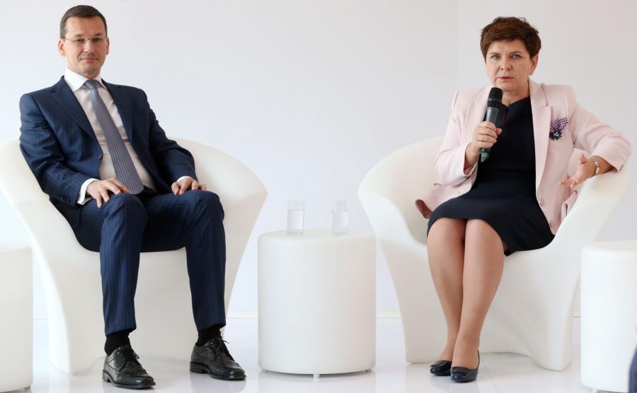 Wicepremier Mateusz Morawiecki i premier Beata Szydło na XXVI Forum Ekonomicznym w Krynicy