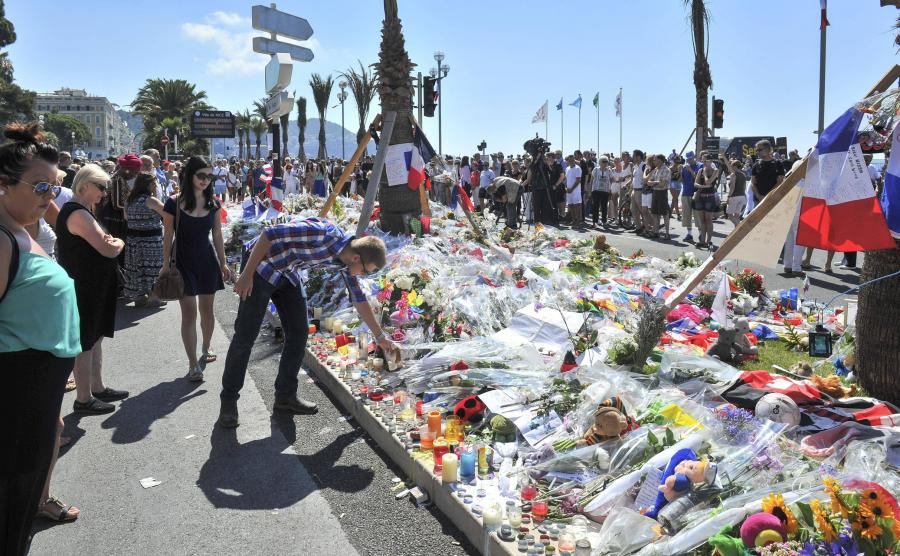 Promenada w Nicei na któej doszło do zamachu