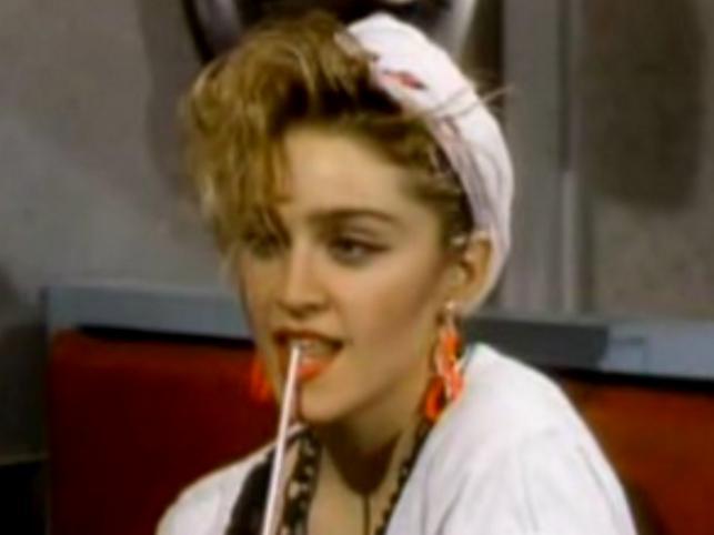Madonna w 1983 podczas wywiadu dla MTV