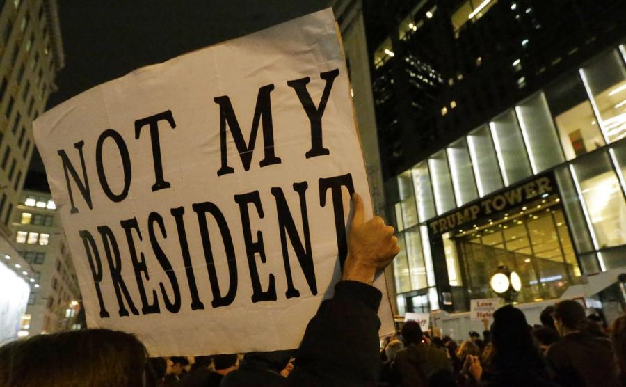 Protest przeciwko Donaldowi Trumpowi w USA