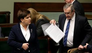 Premier Beata Szydło i wicepremier Piotr Gliński