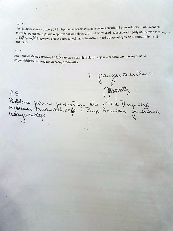 Ujawniony przez Greenpeace dokument z ministerstwa środowiska